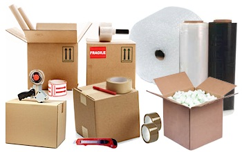 Packaging supplies - Self storage, caravan storage